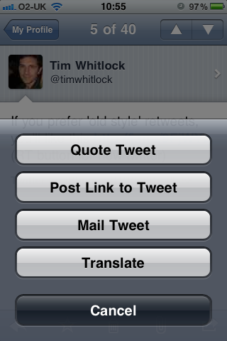 Tweetie screenshot